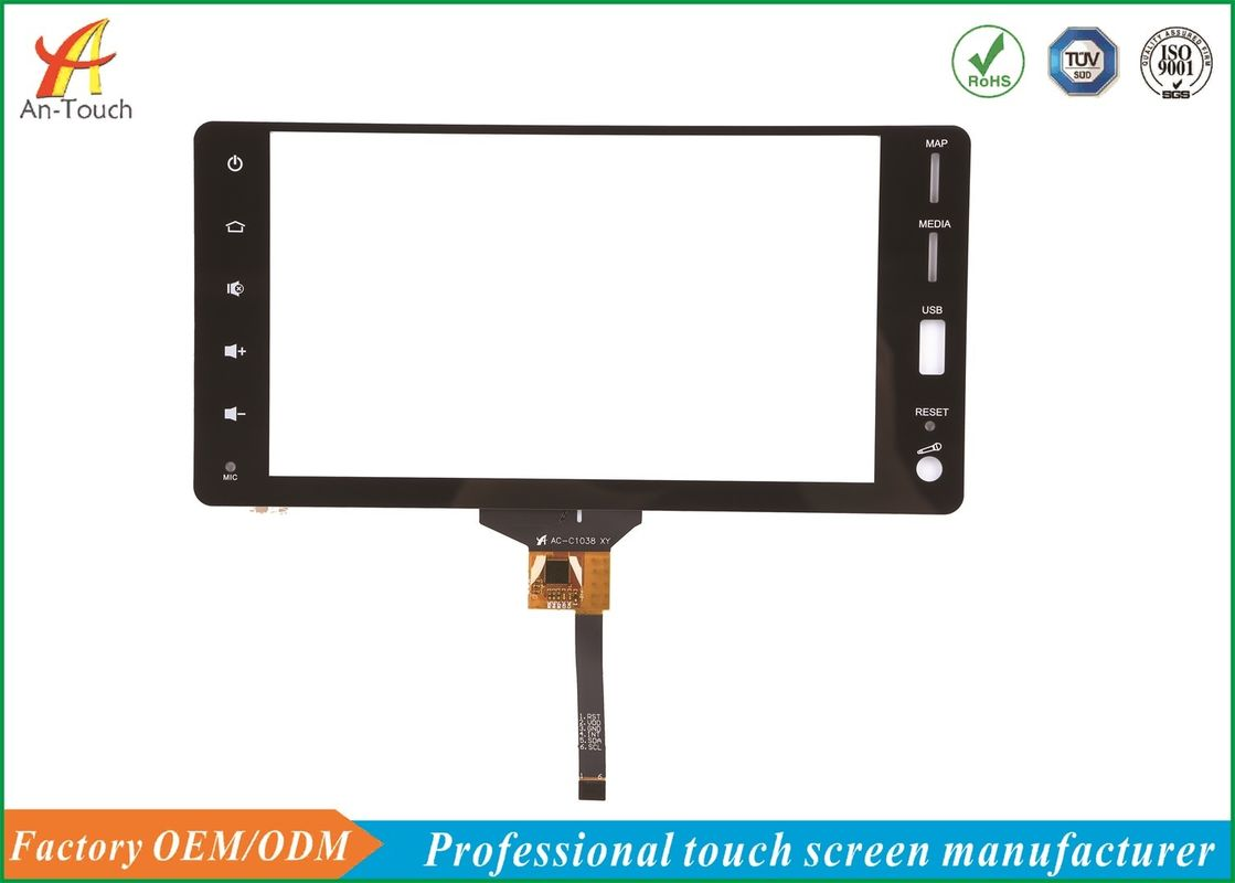 Waterproof Auto Touch Panel Screen , 8 Touch Panel Capacitive Type High Resolution