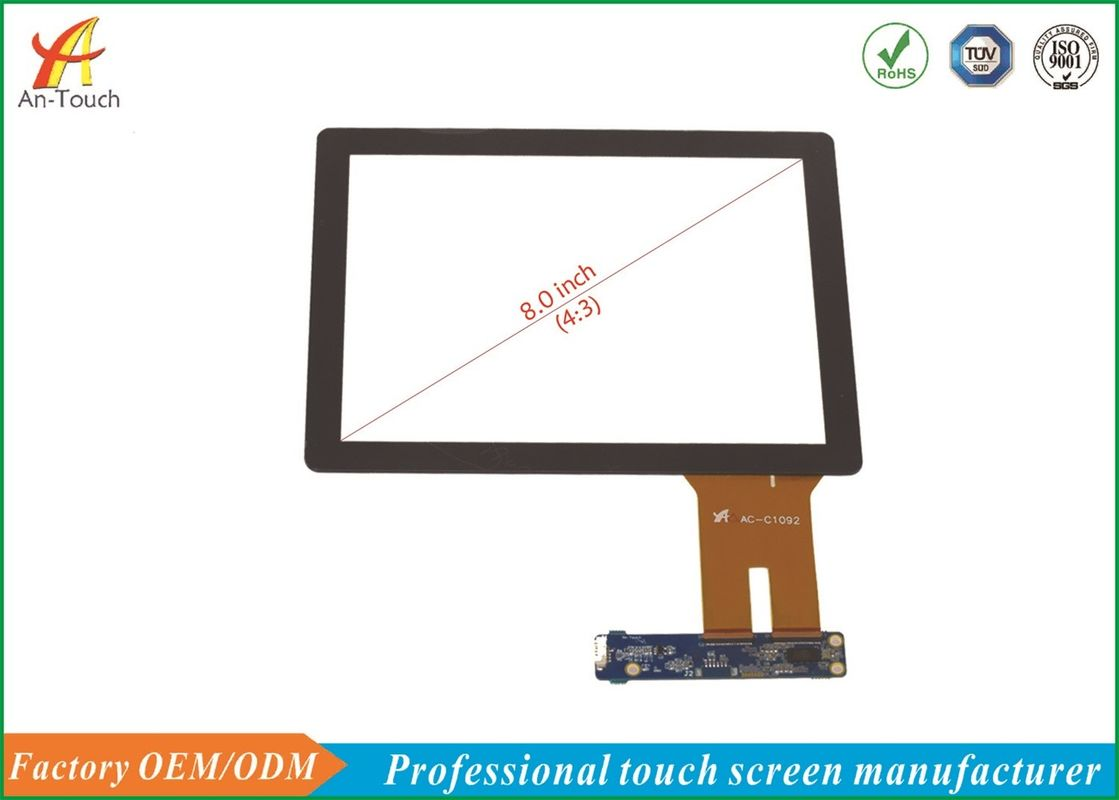 High Transmittance Projected Capacitive Touch Panel 8.0 Inch For Smart Home