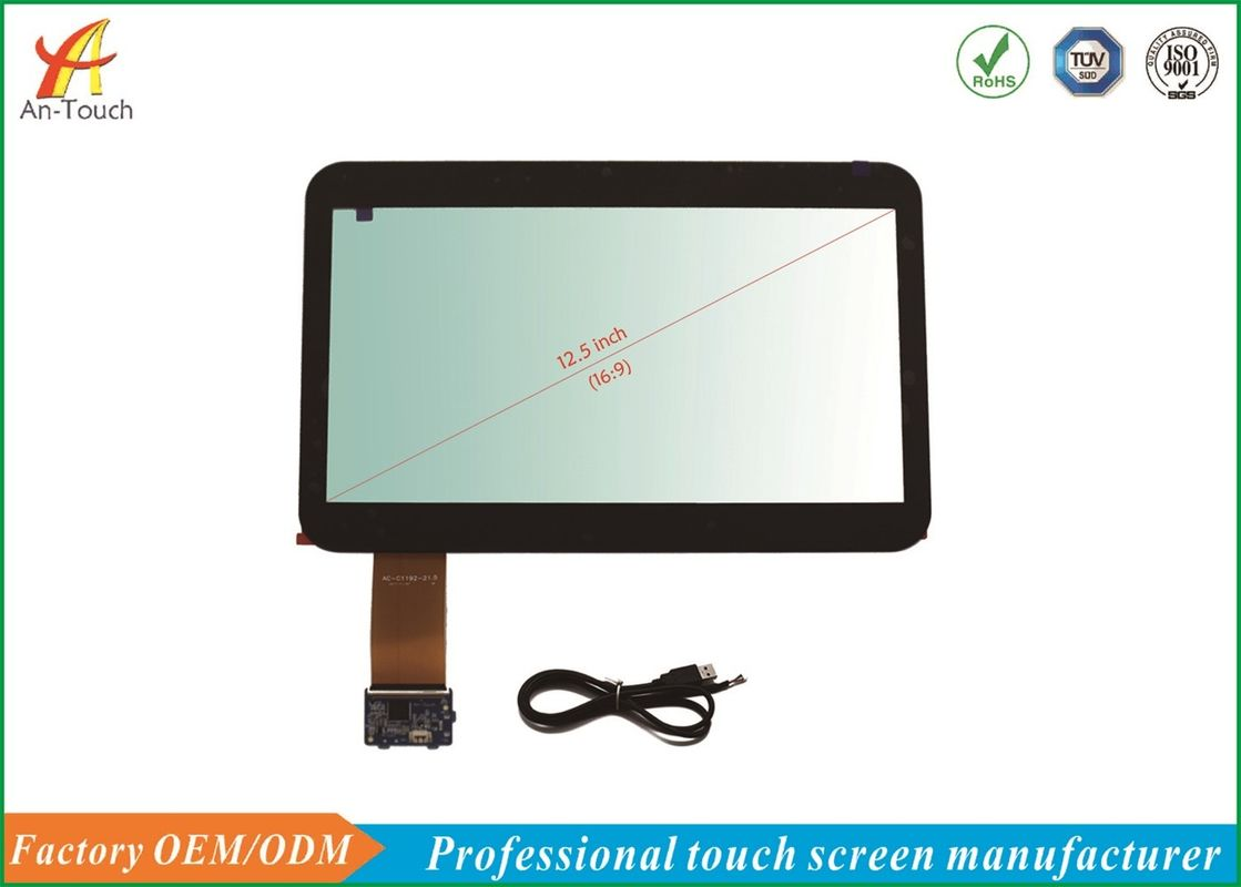 ILI2511 USB Projected Capacitive Touch Panel 12.5 Inch , 276.2*155.0 Mm View Area